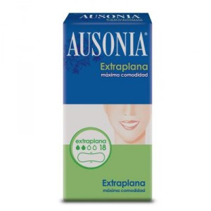 COMPRESA AUSONIA EXTRAPLANA NORMAL 18 UNDS