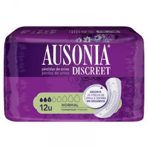 COMPRESA AUSONIA DISCREET NORMAL 12 UNDS