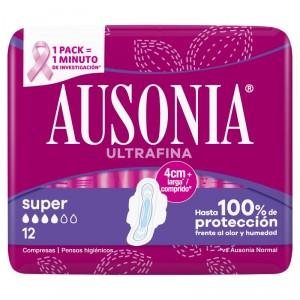 COMPRESA AUSONIA CON ALAS SUPER 12 UNDS