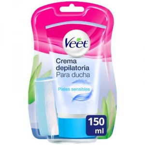 CREMA VEET DEPILATORIA DUCHA PIEL SENSIBLE 150 ML.