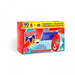 INSECTICIDA ELECTRICO BLOOM MAX MOSCAS Y MOSQ. APARATO+RECAM