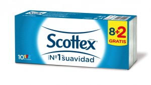 PAÑUELO SCOTTEX PACK 8 + 2 UNDS