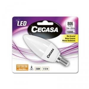 LAMPARA CEGASA LED VELA 7,5W 60W E14 CALIDA
