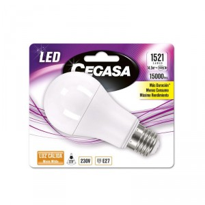 LAMPARA CEGASA LED ESTANDAR 14,5W-100W E27 CALIDA