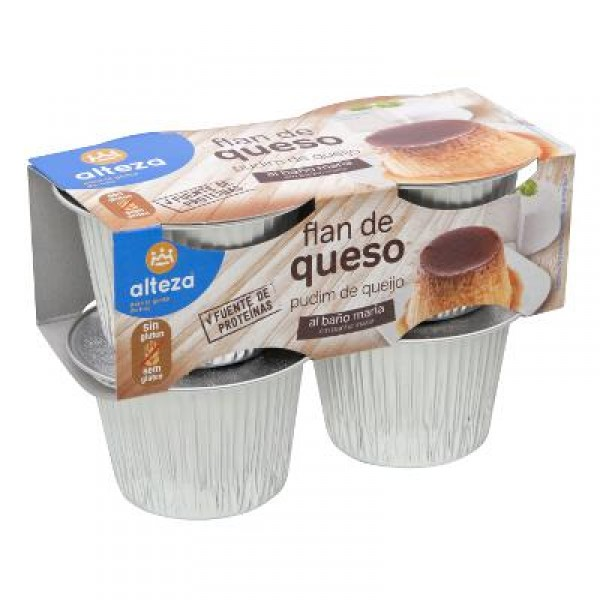 FLAN ALTEZA QUESO PACK 4 UNDS X 100 GRS