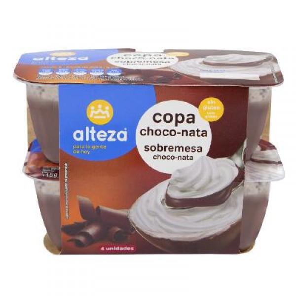 COPA ALTEZA CHOCO-NATA PACK-4 UNDS X 115 GRS