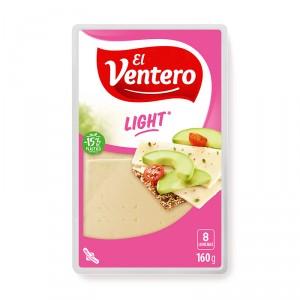 QUESO EL VENTERO LONCHAS LIGHT 160 GRS