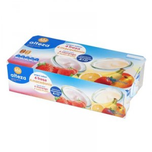 YOGUR ALTEZA SABOR FRESA-MACEDONIA PACK 8 X 125 GRS