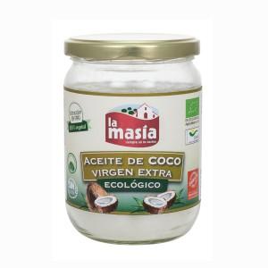ACEITE DE COCO LA MASIA VIRGEN EXTRA ECOLOGICO 430 ML