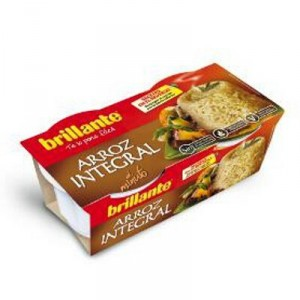 ARROZ BRILLANTE INTEGRAL VASITOS PACK 2 UNDS X 125 GR.