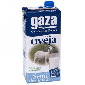 LECHE GAZA OVEJA SEMIDESNATADA UHT BRIK LITRO