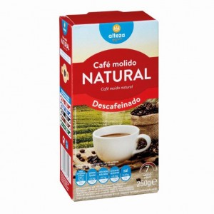 CAFE ALTEZA MOLIDO DESCAFEINADO NATURAL 250 GRS