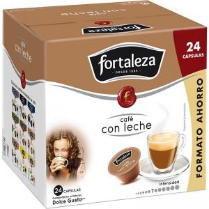 CAFE FORTALEZA CON LECHE 24 CAPS 240 GRS. COMP. DOLCE GUSTO