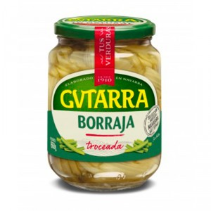 BORRAJA GUTARRA TROZOS AL NATURAL TARRO 660GR., 400 GR. P.E.