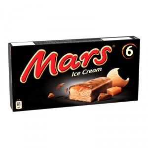 HELADO MARS BARRITA 6 UDS.251 GRS.