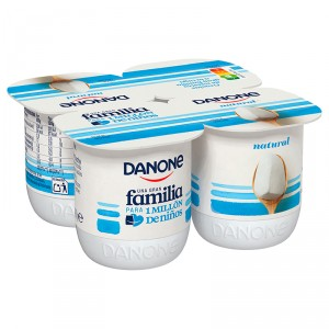 YOGUR DANONE NATURAL PACK 4 X 125 GRS