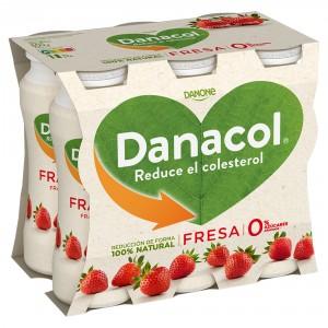 YOGUR DANONE DANACOL LIQUIDO FRESA PACK-6 X 100 GRS
