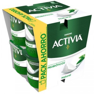YOGUR DANONE ACTIVIA NATURAL PACK 8 UNDS X 125 GRS