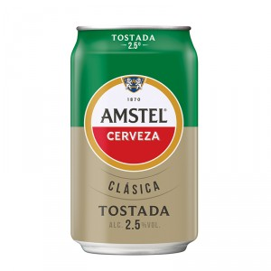 CERVEZA AMSTEL CLASICA TOSTADA 33 CL