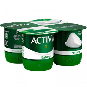 YOGUR DANONE ACTIVIA NATURAL PACK-4 X 125 GRS