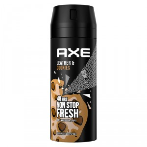 DESODORANTE AXE LEATHER&COOKIES 150 ML.