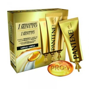 AMPOLLAS PANTENE RESCATE 1 MINUTO 3 UNDS X 15 ML.