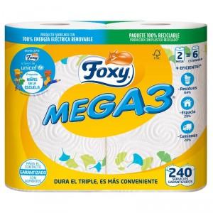 ROLLO COCINA FOXY MEGA3 2 CAPAS 2 ROLLOS