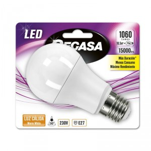 LAMPARA CEGASA LED ESTANDAR 10,5W-75W E27 CALIDA